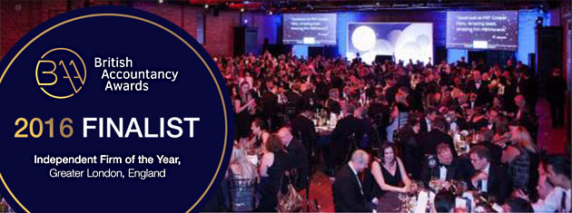 Award nomination - Finalist in the 'Independent Firm of the Year, Greater London' category of the British Accountancy Awards, 2016